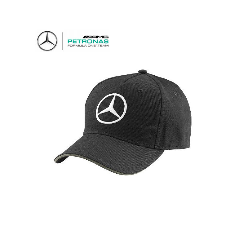 casquette mercedes amg team noire formule 1. Black Bedroom Furniture Sets. Home Design Ideas