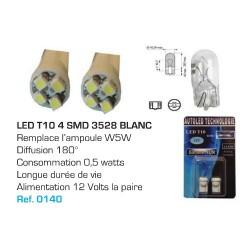 Ampoule Led T10 W5W Blanc (0025)