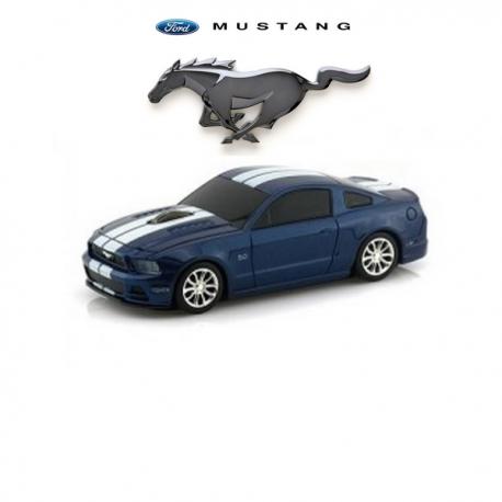 Souris d'ordinateur optique sans fil FORD Mustang GT bleue