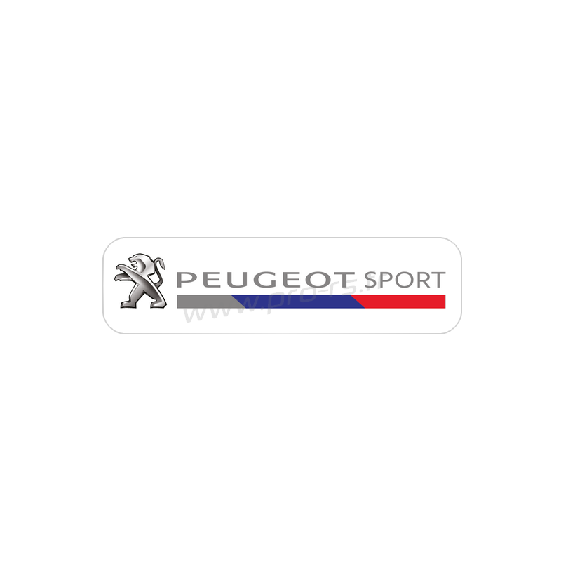 Sticker Transparent Peugeot Sport 2016