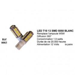 Ampoule Led T10 W5W Blanc (0002)