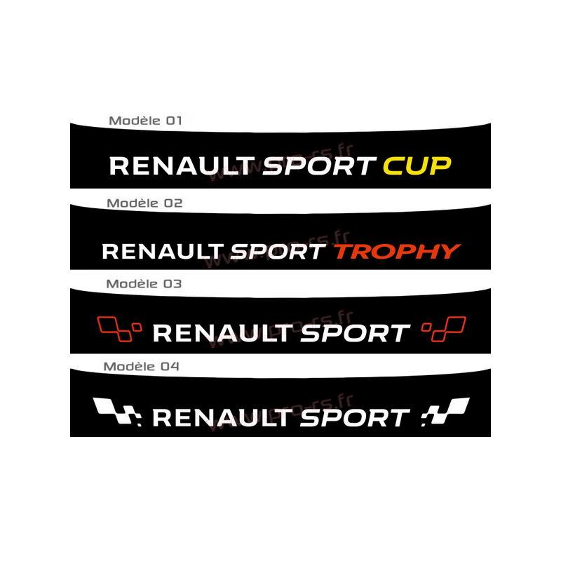bandeau pare soleil renault sport 2016 type 2. Black Bedroom Furniture Sets. Home Design Ideas