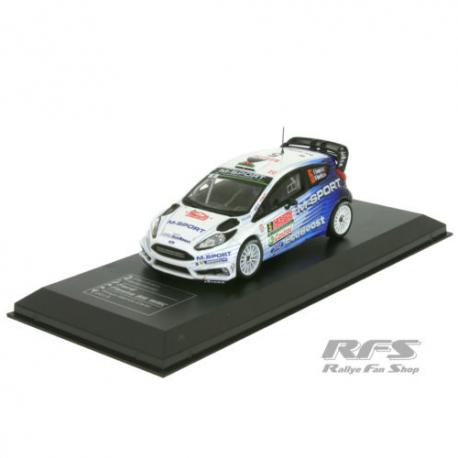Miniature Ford FIESTA rs wrc-rallye monte carlo 2015-Evans 1/43