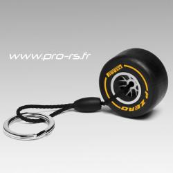 Porte clés PIRELLI Pzero Pneu tendre noir et jaune - Formule 1