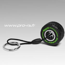 Porte clés PIRELLI Cinturato Pneu Intermédiaire vert - Formule 1