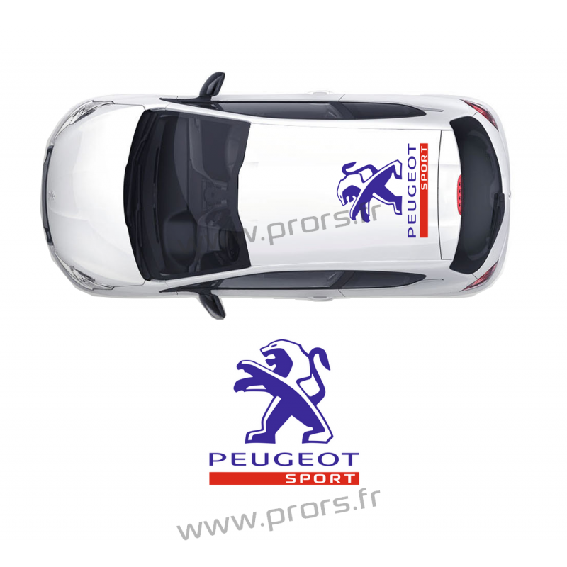 stickers de toit peugeot sport b. Black Bedroom Furniture Sets. Home Design Ideas