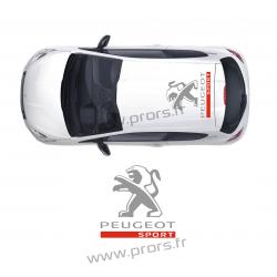 Stickers de toit Peugeot Sport C