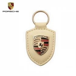 Porsche Porte-clés écusson Blanc