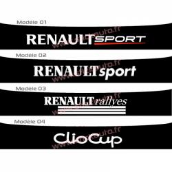 Bandeau pare soleil Renault Sport H