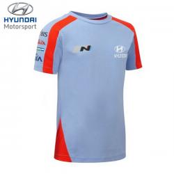 T-shirt HYUNDAI MOTORSPORT Team bleu pour homme - Rallye
