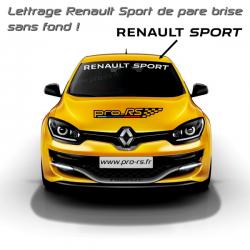 Lettrage Renault Sport de pare brise
