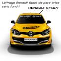 Lettrage Renault Sport New de pare brise