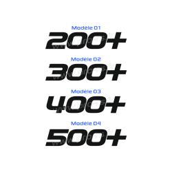 Sticker 200+ 300+ 400+ 500+
