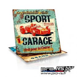 Plaque de décoration RETRO BRANDS Sport Garage 29x29 cm
