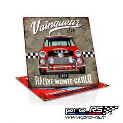 Plaque de décoration RETRO BRANDS Rallye Monte Carlo