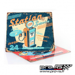 Plaque de décoration RETRO BRANDS Garage 29x29 cm - Rallye