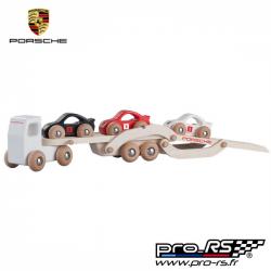 Porsche camion porte-voitures en bois