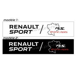 Cache plaque Renault Sport R.A.