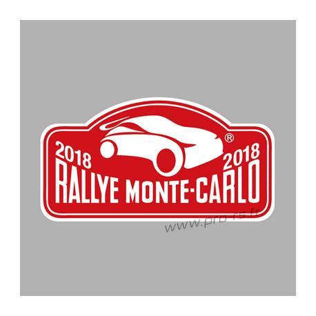 Plaque de Rallye DAKAR 2018 en autocollant