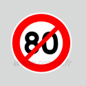 Stickers Non 80 km/h