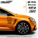 Kit 8 Stickers RS Losange PACK Renault Sport