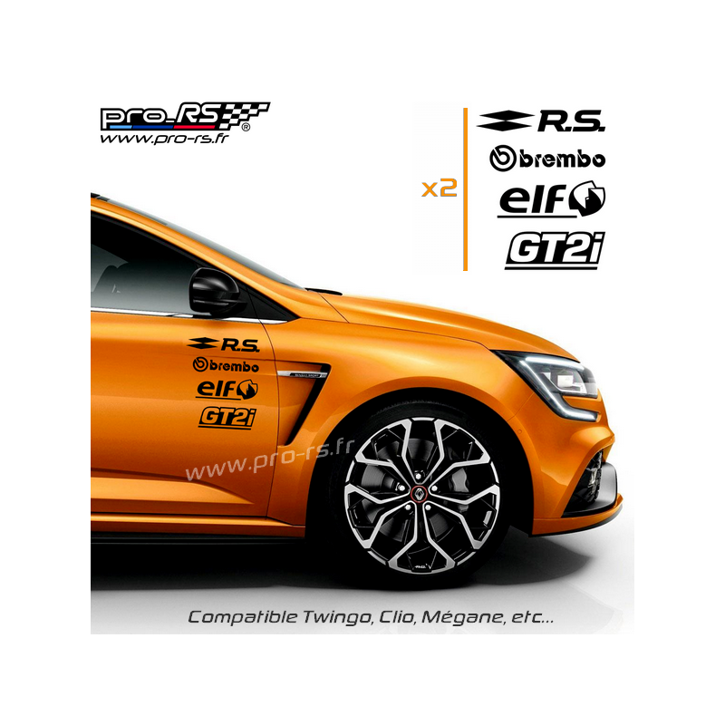 kit 8 stickers rs losange pack renault sport. Black Bedroom Furniture Sets. Home Design Ideas