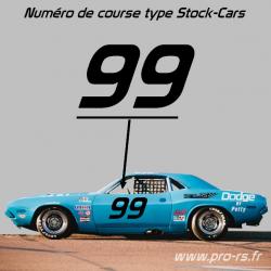 Numéro de course type Stock-Cars
