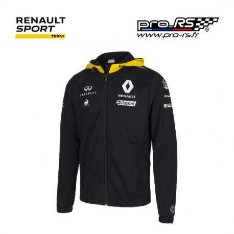 rain jacket renault sport formula one team 2018 noir formule 1. Black Bedroom Furniture Sets. Home Design Ideas