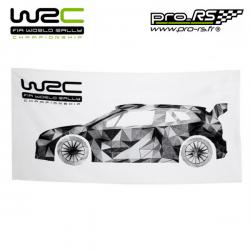 Serviette de plage WRC blanche - Rallye