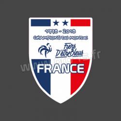 Sticker France Foot Champion 1998 2018