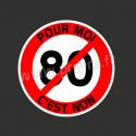 Stickers Faut Arreter les Conneries Non 80 km/h
