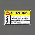 Sticker Attention Vibrations