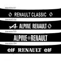 Bandeau pare soleil Vintage Renault