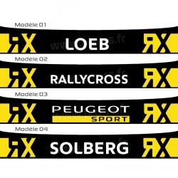 Bandeau pare soleil Loeb RX RallyCross