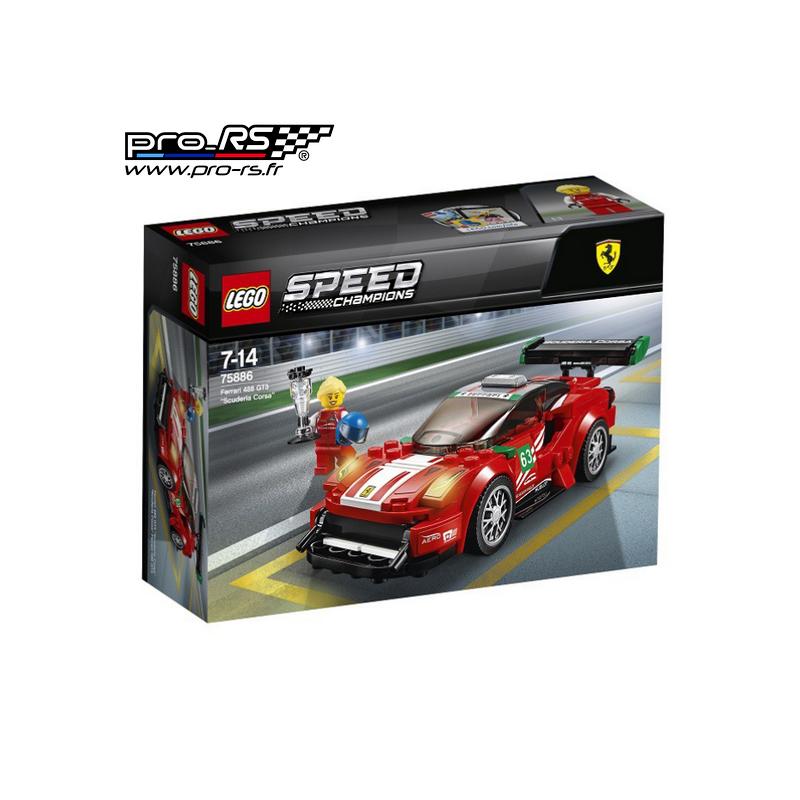 jeu de construction lego speed champions scuderia corsa ferrari 488 gt3. Black Bedroom Furniture Sets. Home Design Ideas