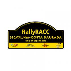 Plaque de Rallye Espagne 2018 en autocollant