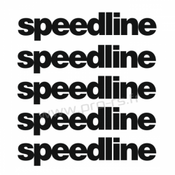 Kit 5 Stickers de jante Speedline 1
