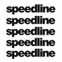 Kit 5 Stickers de jante Speedline 1