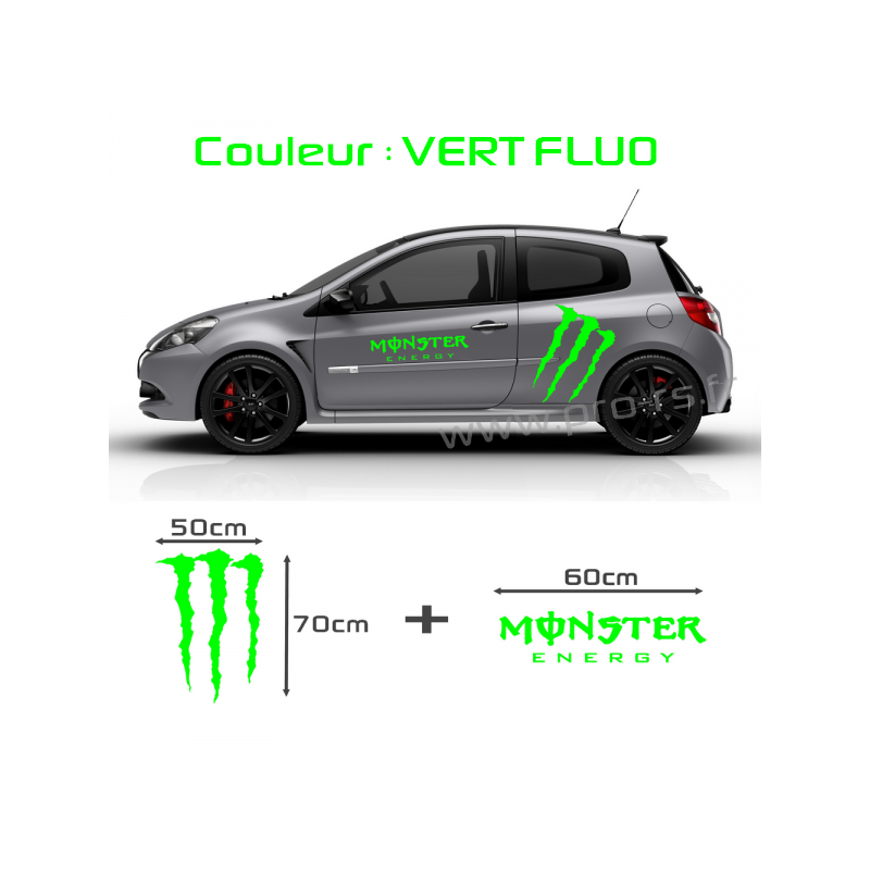 Code couleur vert monster energy