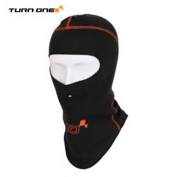 Cagoule FIA ouverte TURN ONE Pro noir/orange fluo