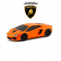 Souris d'ordinateur optique sans fil LAMBORGHINI Aventador orange