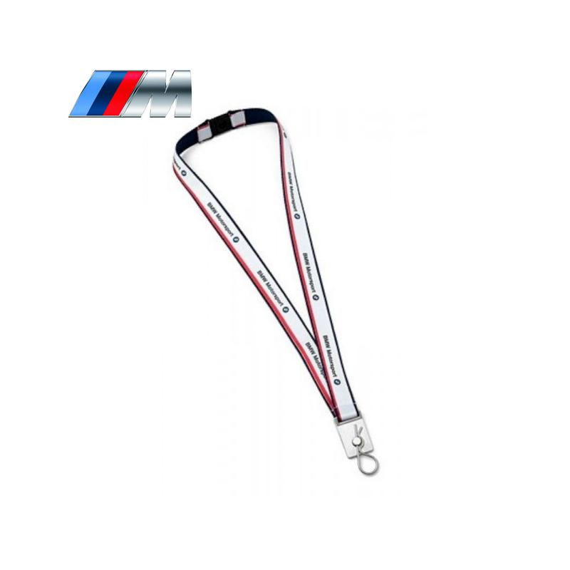 De Cou BMW MOTORSPORT Blanc - Tour de cou porte clé