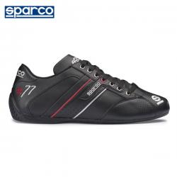 Chaussures SPARCO Time 77 en cuir pour homme NOIR