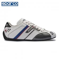 Chaussures SPARCO Time 77 en cuir pour homme BLANC
