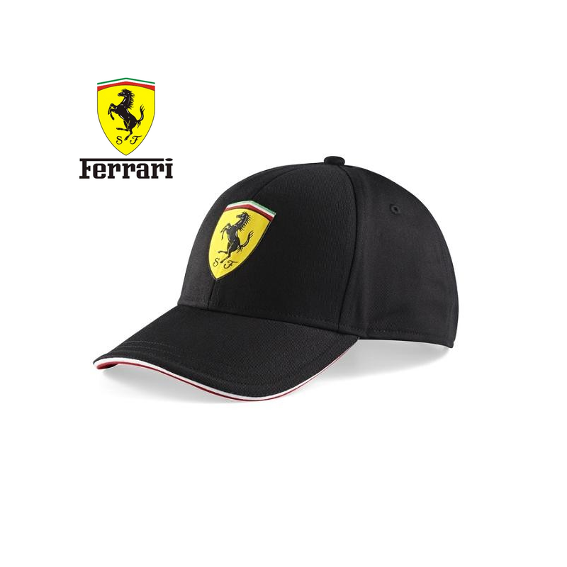 casquette ferrari classic noire. Black Bedroom Furniture Sets. Home Design Ideas