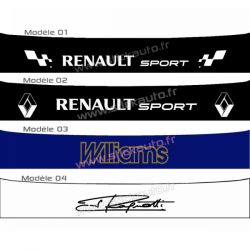 Bandeau pare soleil Renault Sport E