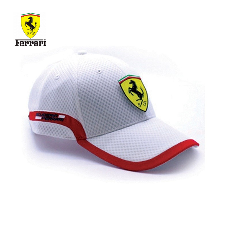 casquette ferrari track blanche. Black Bedroom Furniture Sets. Home Design Ideas