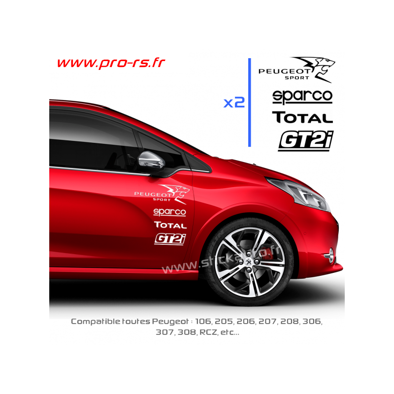 kit 8 stickers peugeot sport pack. Black Bedroom Furniture Sets. Home Design Ideas