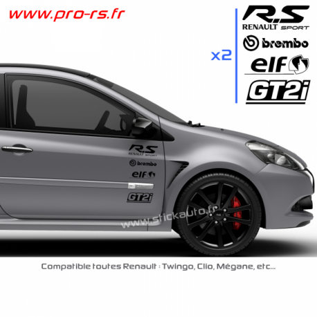 Kit 8 Stickers RS PACK Renault Sport