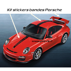 Kit stickers bandes Porsche